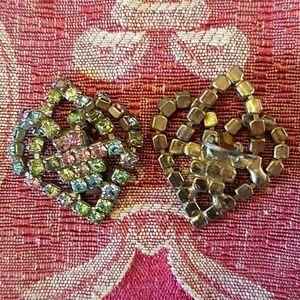 Jewelry - Vintage rhinestone clip on earrings